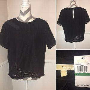 MICHAEL KORS | NWT | fringe and lace top
